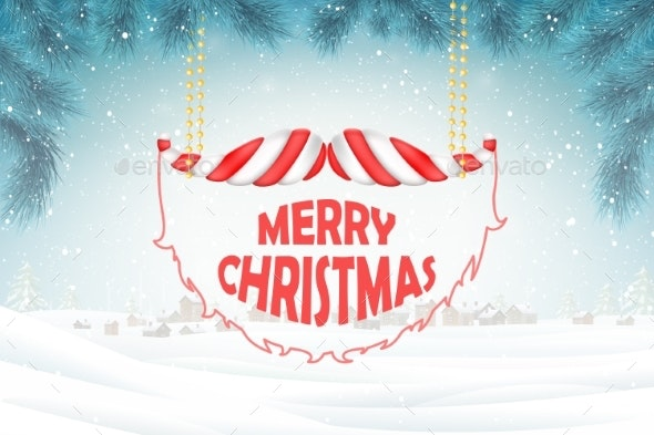 Christmas and New Year Typography Greetings - Christmas Seasons/Holidays