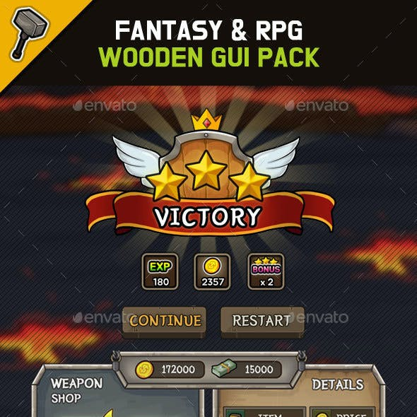 Fantasy Wooden GUI : Package