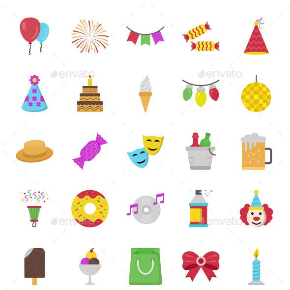 45 Mexican Party Vector Icons