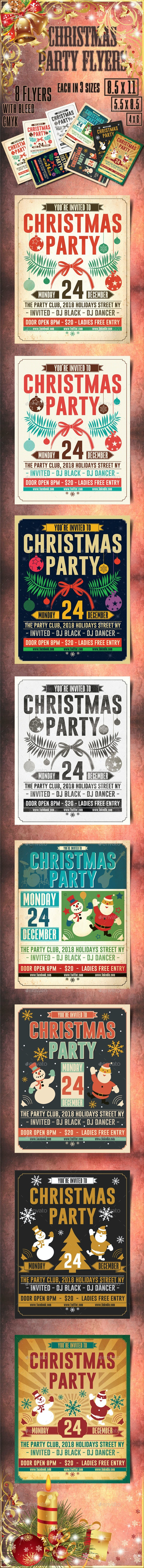 Christmas Retro Party Flyer - Holidays Events