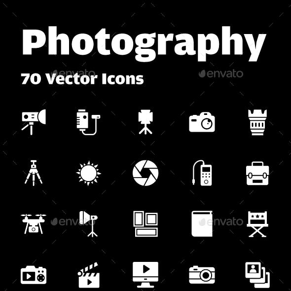 70 Photography Vector Icons