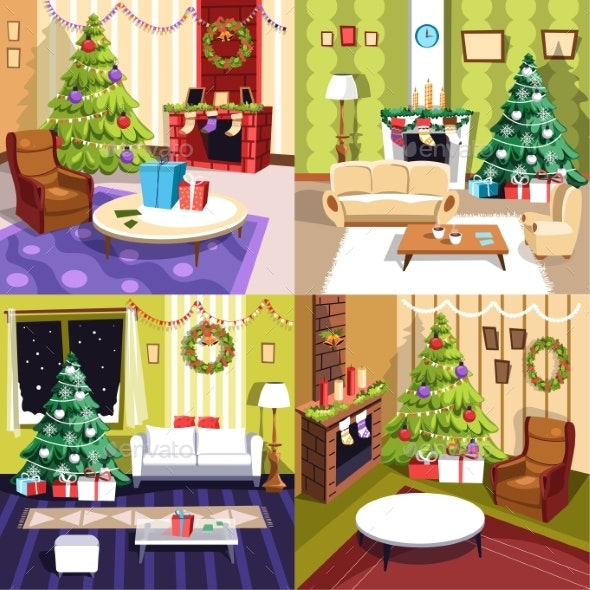 Christmas Winter Holidays, Furniture and Interior - Seasons/Holidays Conceptual