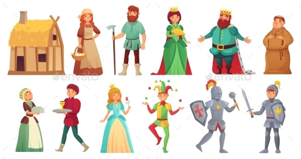 Medieval Historical Characters - People Characters