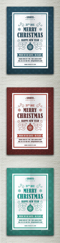 Christmas & Happy New Year Flyer - Flyers Print Templates