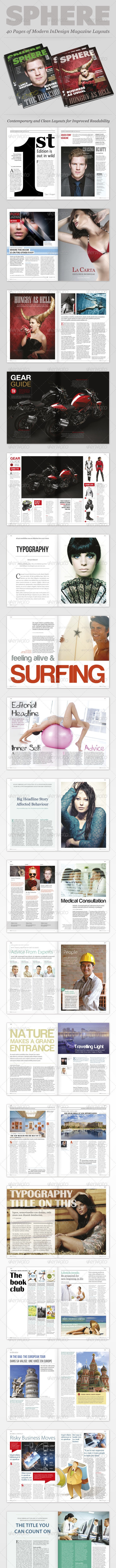 InDesign Magazine: Sphere - Magazines Print Templates