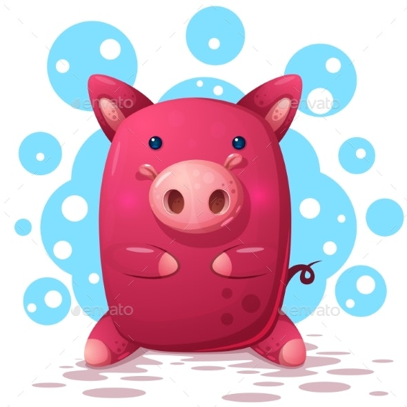 Pig Illustration - Animals Characters