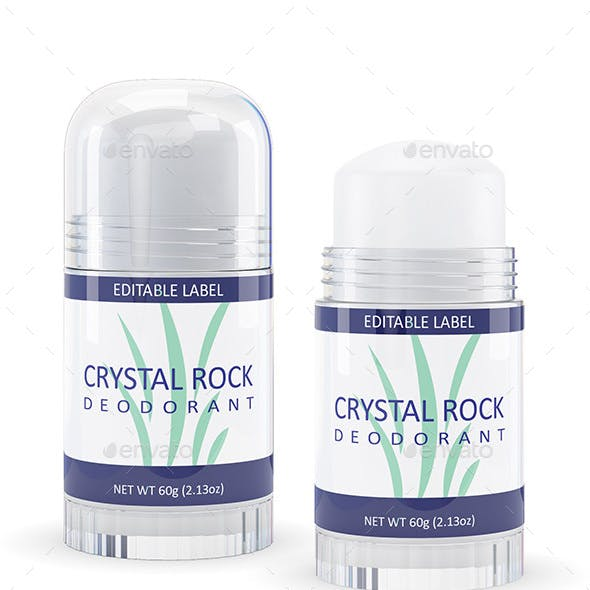 Crystal Rock Deodorant Mock-up (2 Bottle Styles)