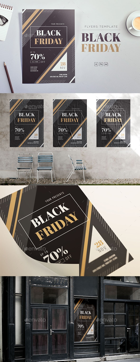 Black Friday 2018 Flyers Template - Commerce Flyers