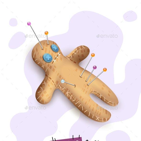 Voodoo Doll Pins Realistic