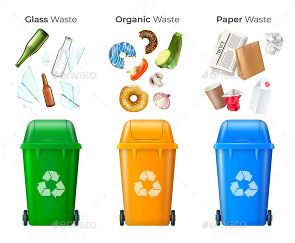 Trash and Recycling Set - Industries Business