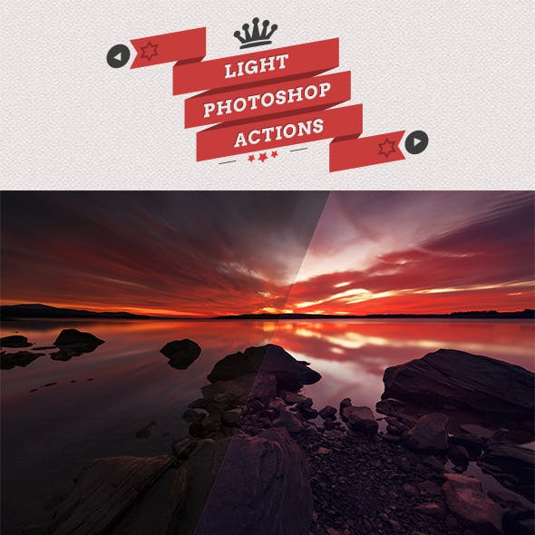 25 Light Photoshop Actions