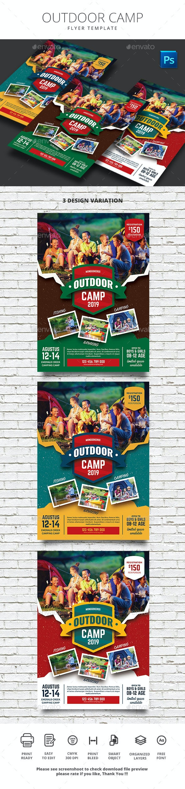 Outdoor Camp - Flyers Print Templates