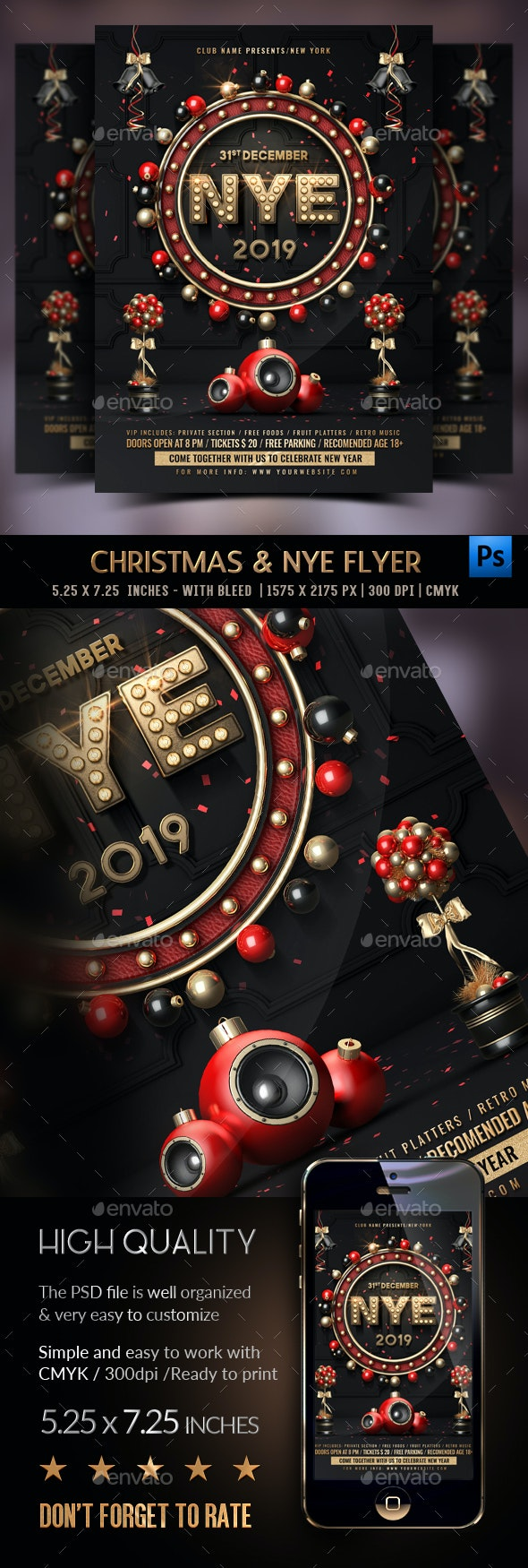 New Years Eve Flyer - Events Flyers