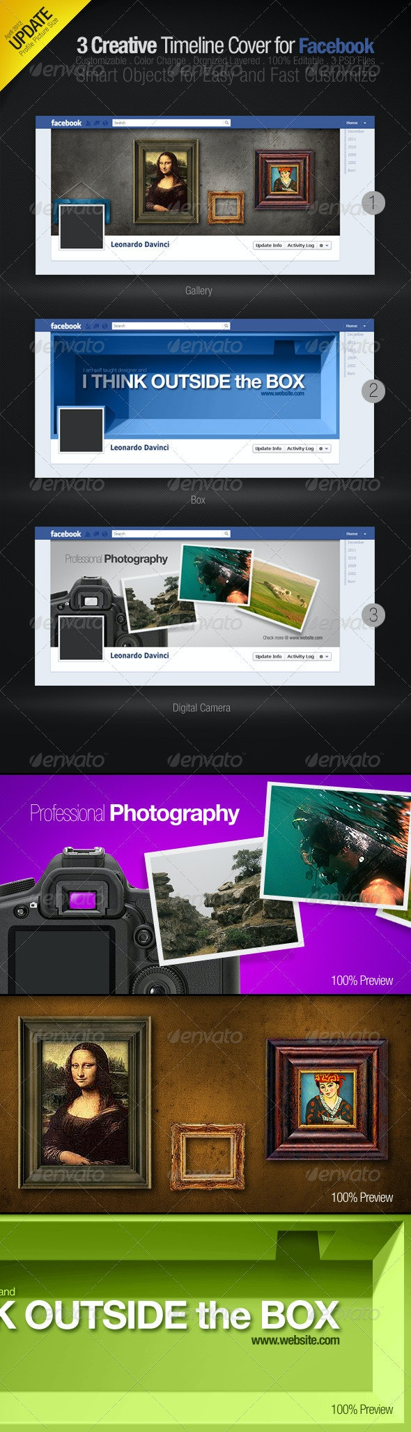 3 Creative Facebook Timeline Covers - Facebook Timeline Covers Social Media