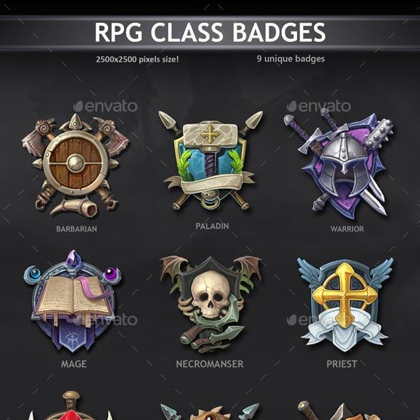 RPG Class Badges