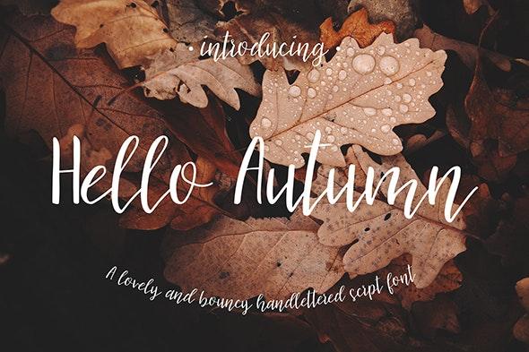 Hello Autumn Script Font - Hand-writing Script
