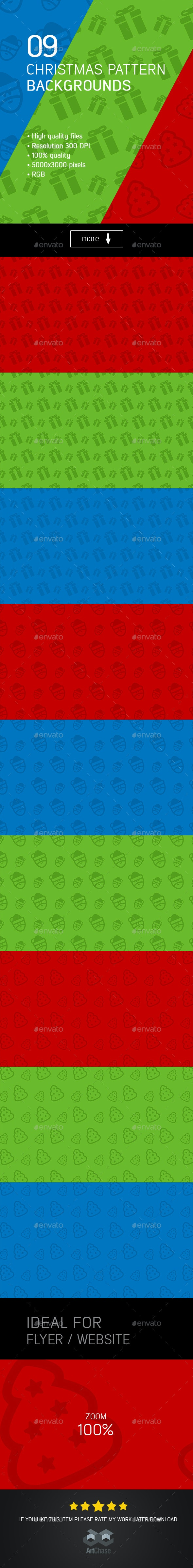 Christmas Pattern Backgrounds - Backgrounds Graphics