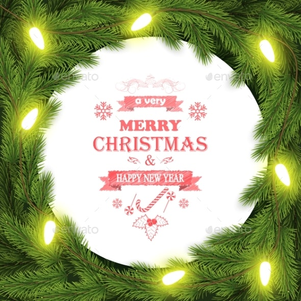 Christmas and New Year Typography Background - Christmas Seasons/Holidays