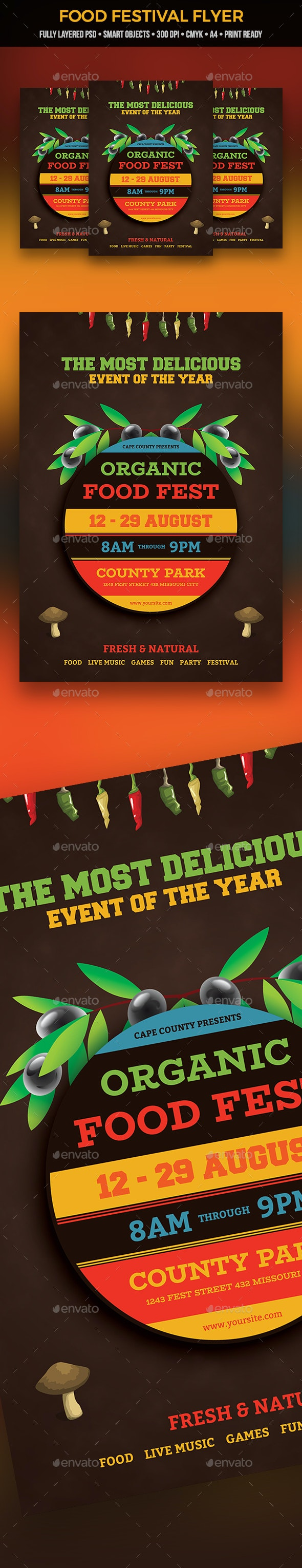 Food Festival Flyer - Clubs & Parties Events