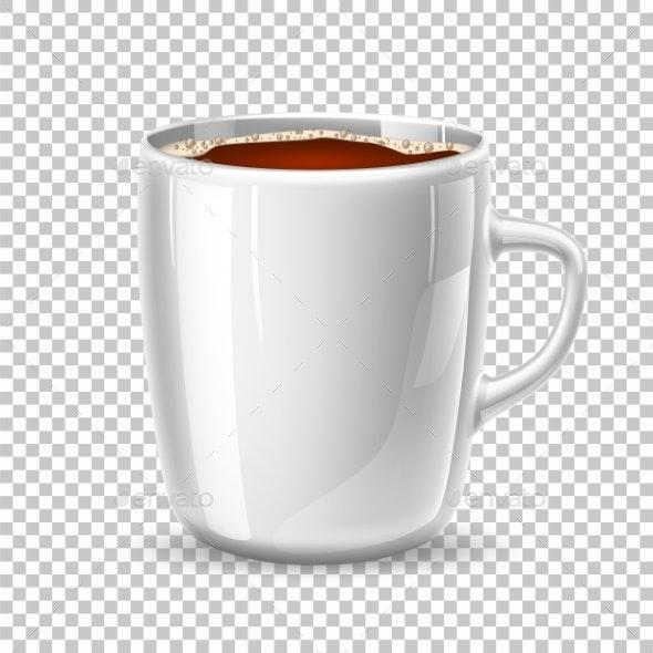 Vector Realistic Mug - Food Objects