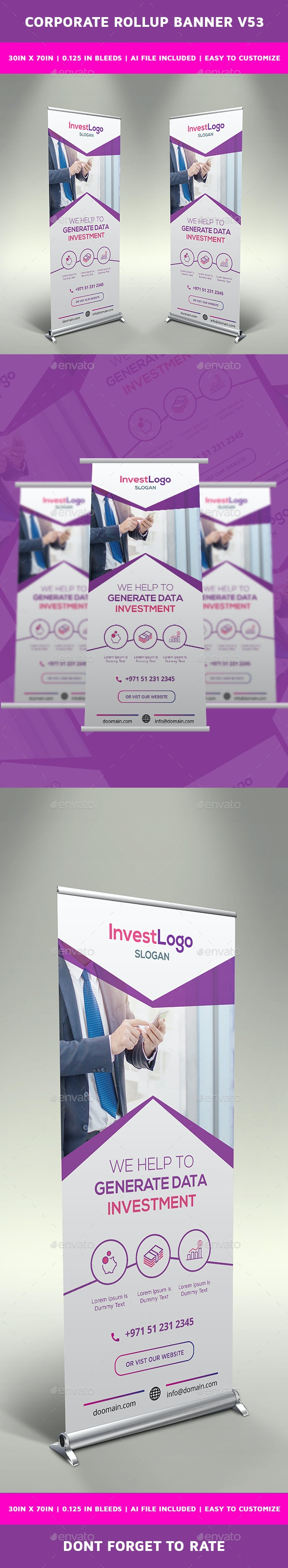 Corporate Rollup Banner v53 - Signage Print Templates