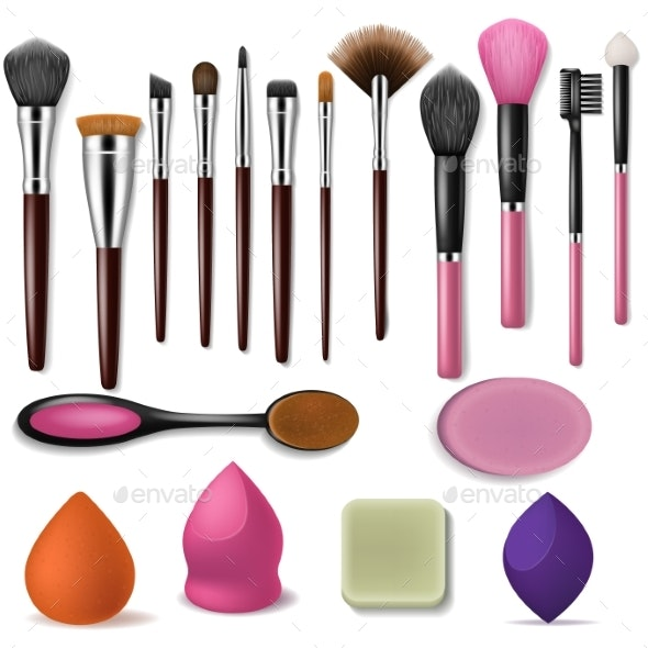 Makeup Brush Vector Professional Beauty Applicator - Miscellaneous Vectors
