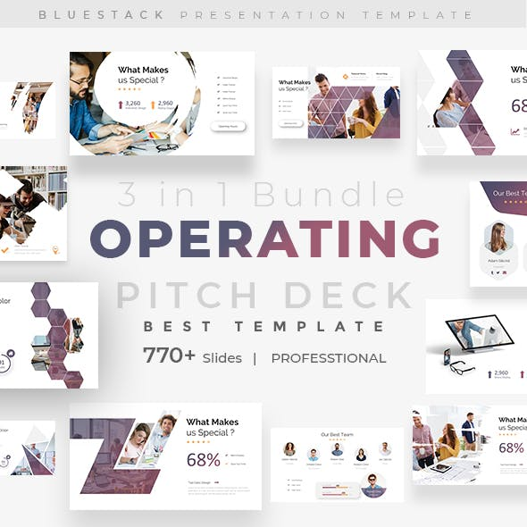 Operating Pitch Deck 3 in 1 Bundle Keynote Template