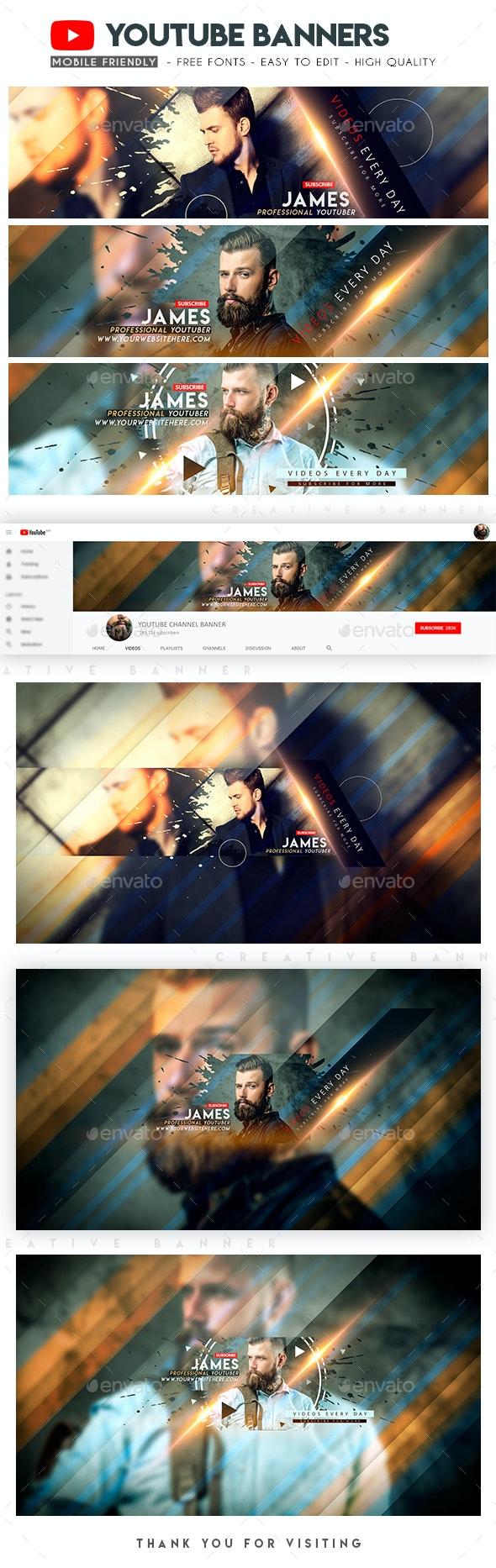 Creative YouTube Banners - YouTube Social Media