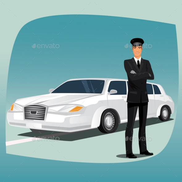 Chauffeur of Limousine - People Characters