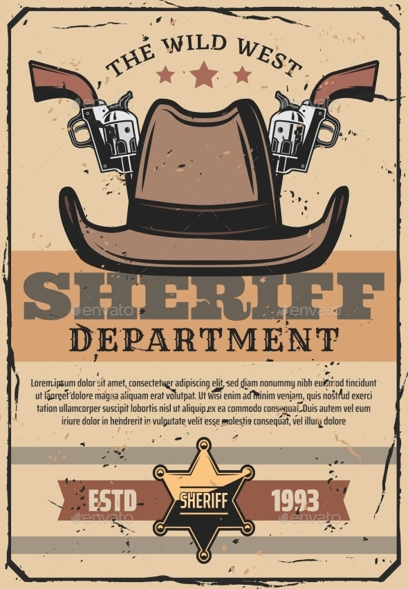 Wild West Sheriff Gun - Man-made Objects Objects