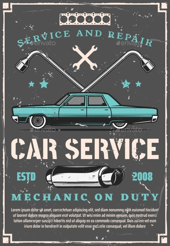 Car Repair and Tuning Service - Man-made Objects Objects