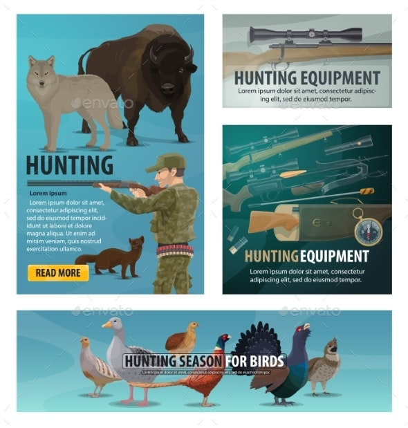 Hunting Season Animal and Birds - Sports/Activity Conceptual