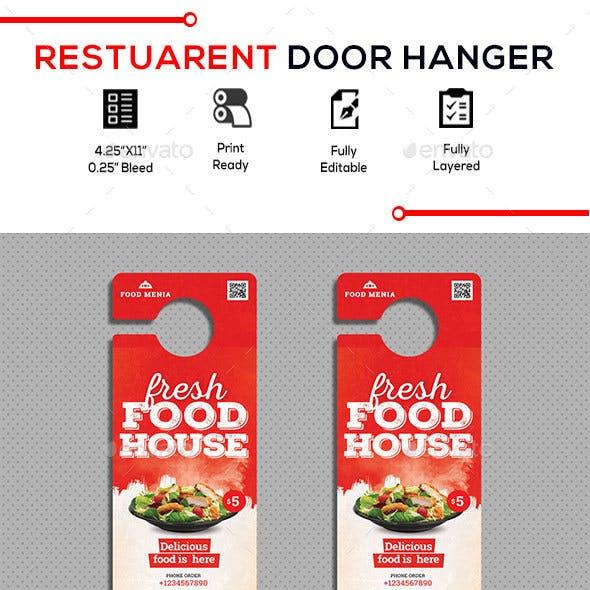 Restaurant Door Hanger