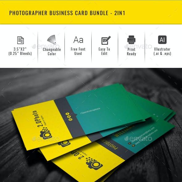 Photographer Business Card Bundle - 2in1