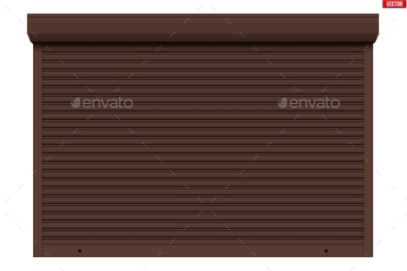 Garage Roller Shutters Isolated - Miscellaneous Vectors