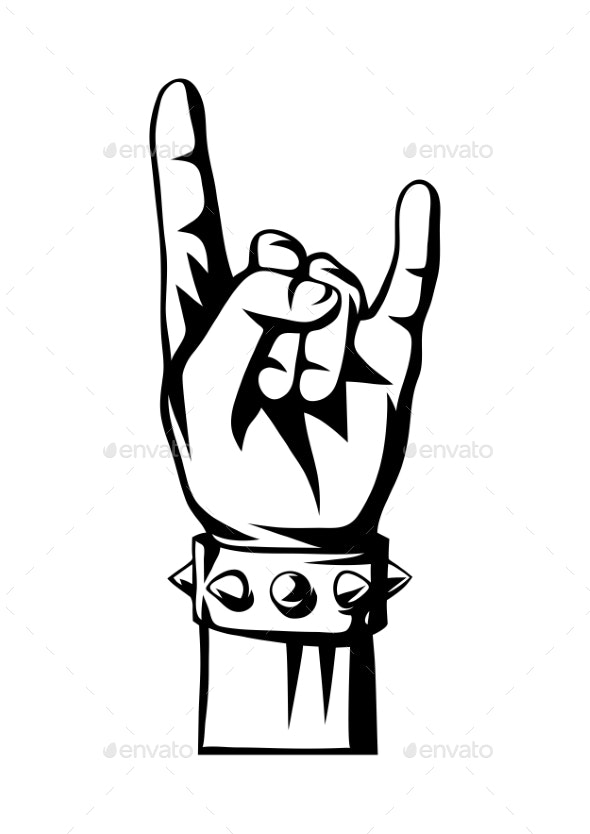 Rock and Roll or Heavy Metal Hand Sign - Miscellaneous Vectors