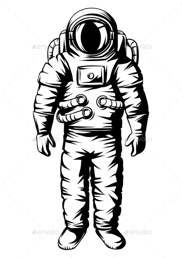 Illustration of Astronaut Spaceman in Suit - Miscellaneous Characters