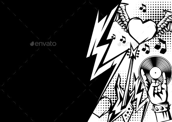 Rock and Roll Music Print - Miscellaneous Vectors