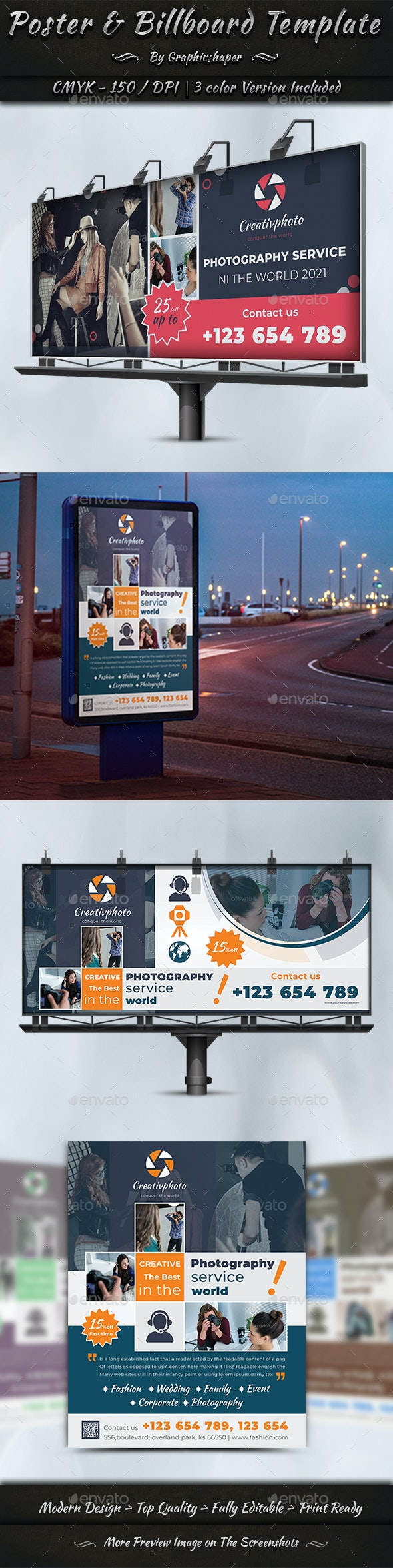 Poster & Billboard Template - Signage Print Templates