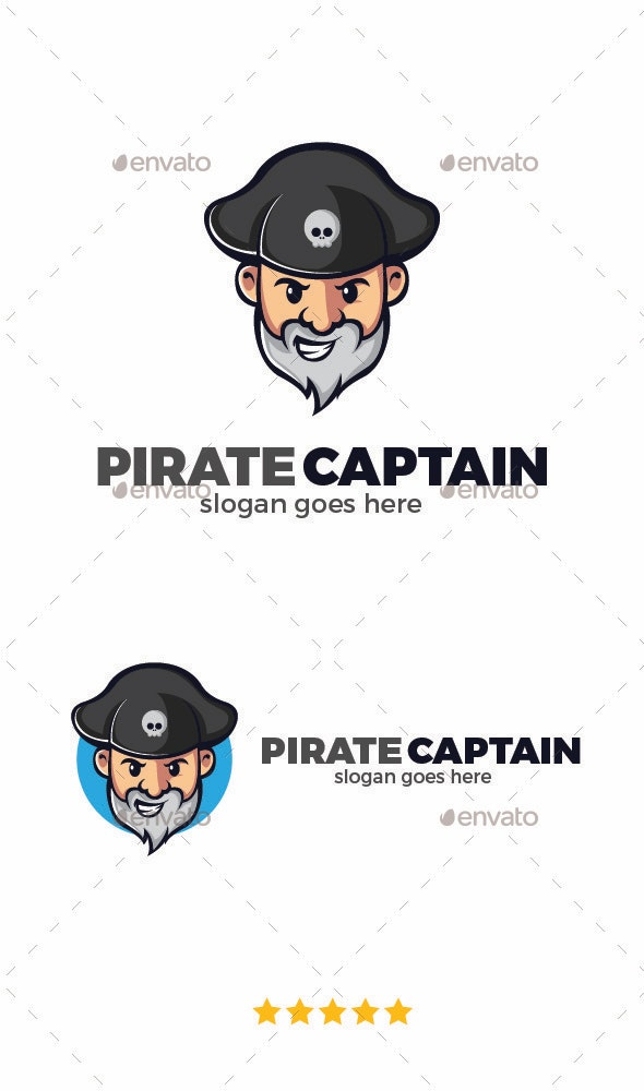 Captain Pirate Logo Template - Nature Logo Templates