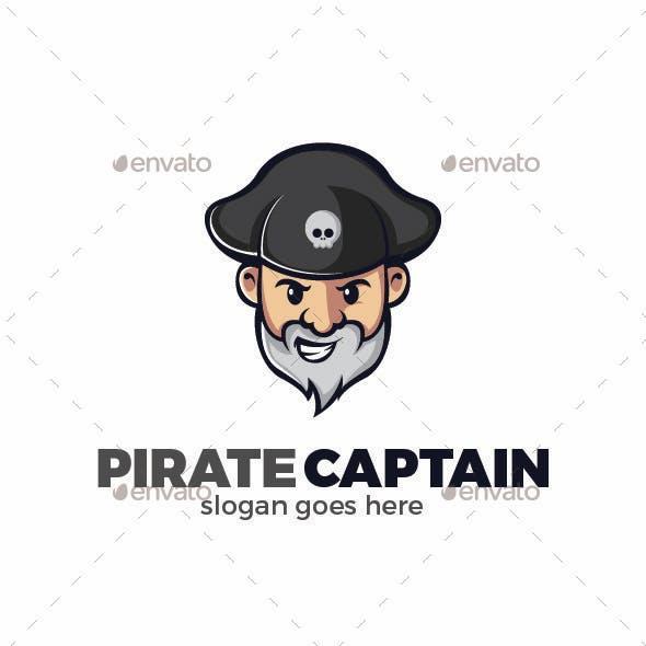 Captain Pirate Logo Template