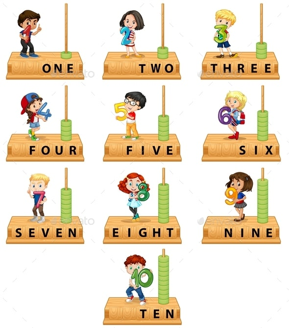 Abacus Number Character Set - People Characters