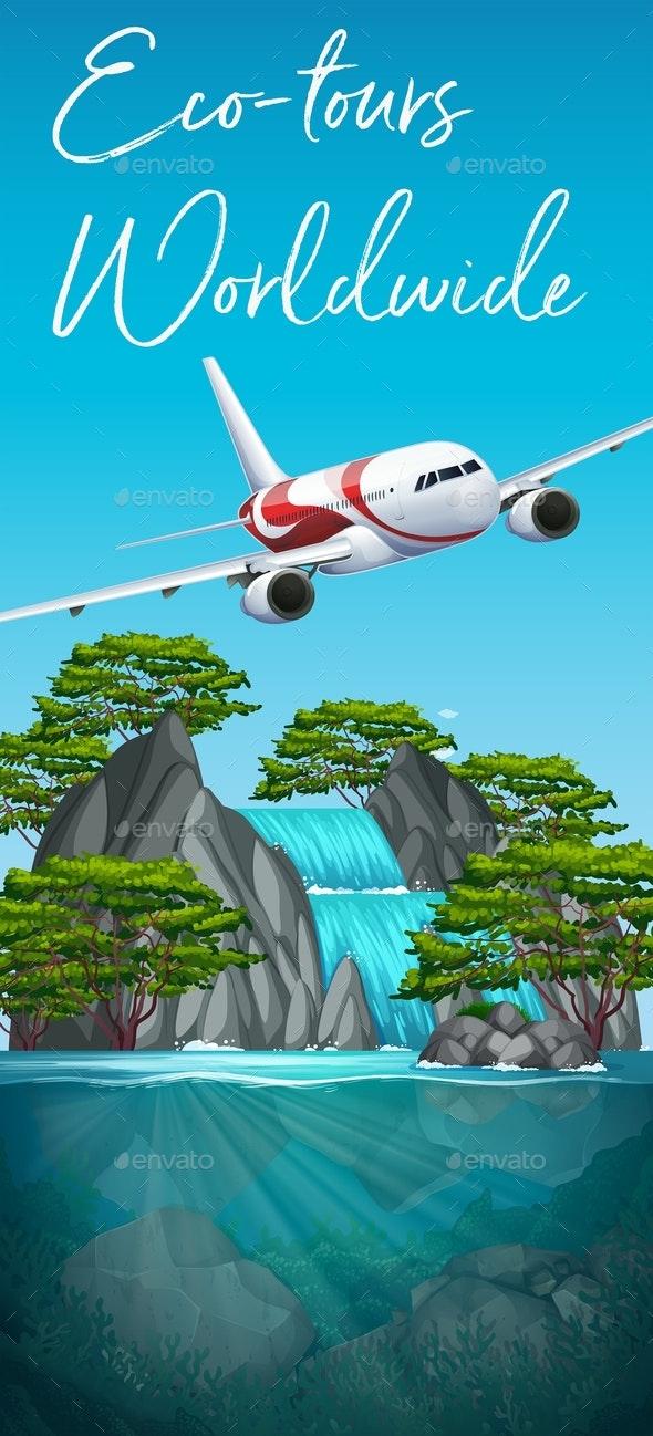 Eco Tours Worldwide Plane Scene - Travel Conceptual