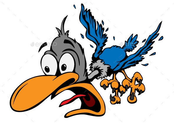 Cartoon Bird Vector Illustration - Animals Characters