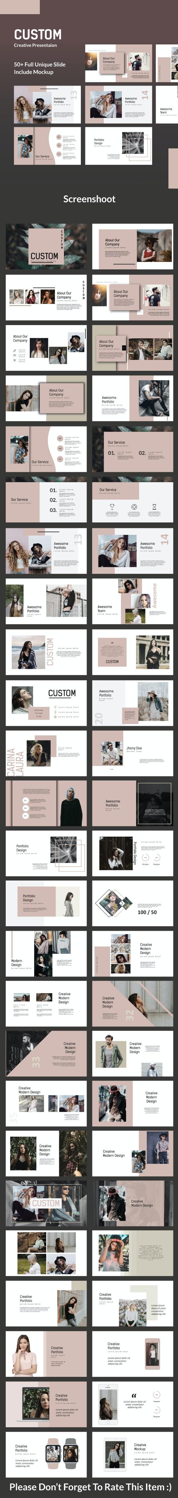 Custom Creative - Keynote Template - Keynote Templates Presentation Templates
