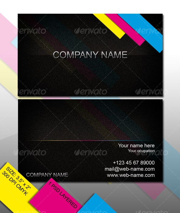 CMY Business Card - Creative Business Cards