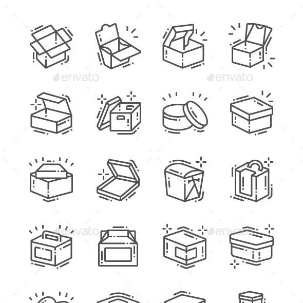 Box Line Icons