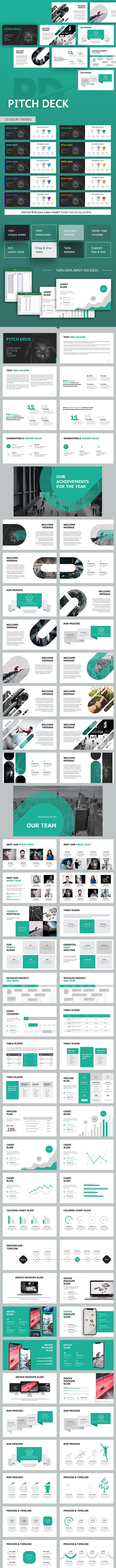 Pitch Deck Corporate Keynote Template - Business Keynote Templates