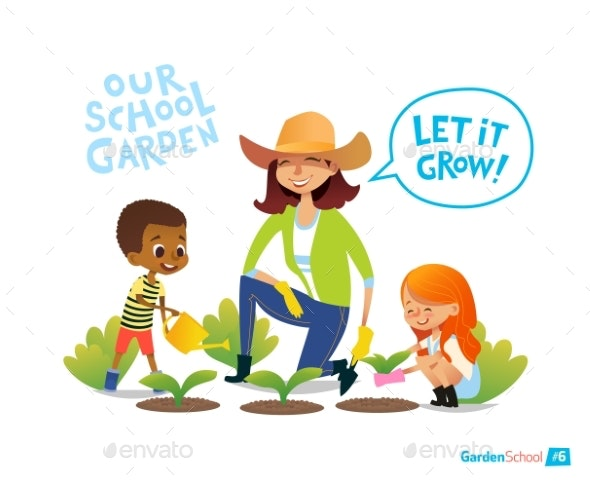 Gardening With Kids - Flowers & Plants Nature