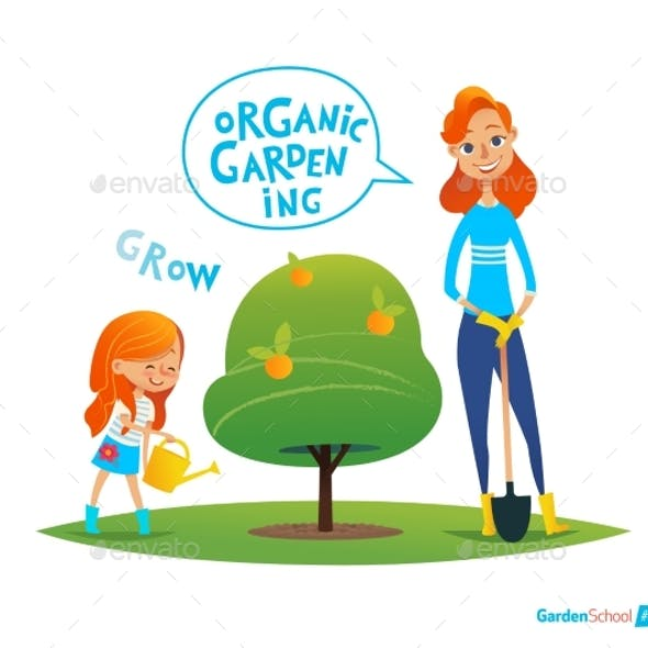 Planting Tree With Kids